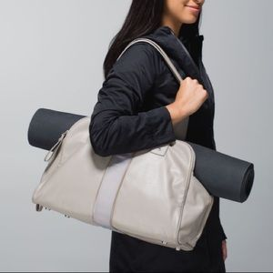 Lululemon Two Times a Yogi Faux Leather Duffel Bag